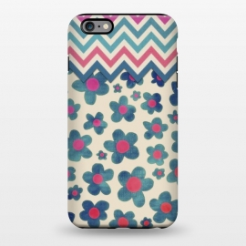 iPhone 6/6s plus  Happy Teal Vintage Daisies on Cream by Micklyn Le Feuvre ()