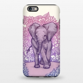 iPhone 6/6s plus  Cute Baby Elephant in pink purple and blue by Micklyn Le Feuvre ()