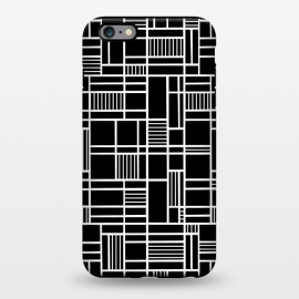 iPhone 6/6s plus  Map Outline Black 45 White by Project M