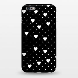 iPhone 6/6s plus  Pin Point Hearts White by Project M