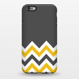 iPhone 6/6s plus  Color Blocked Chevron Mustard Gray by Josie Steinfort  ()