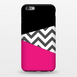 iPhone 6/6s plus StrongFit Color Blocked Chevron Black Pink  by Josie Steinfort  ()