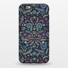 iPhone 6/6s plus  Colored Chalk Floral Doodle Pattern by Micklyn Le Feuvre