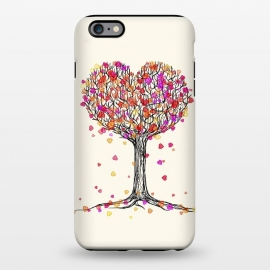 iPhone 6/6s plus  Love in the Fall Heart Tree Illustration by Micklyn Le Feuvre ()