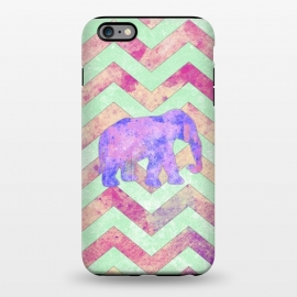 iPhone 6/6s plus  Elephant Mint Green Chevron Pink Watercolor by Girly Trend
