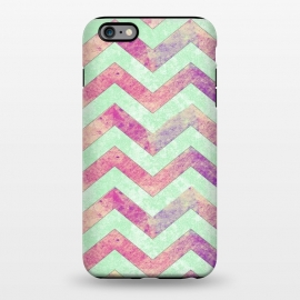iPhone 6/6s plus  Mint Pink Watercolor Chevron by Girly Trend
