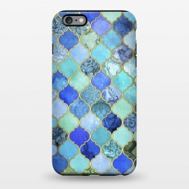 iPhone 6/6s plus  Cobalt Blue Aqua and Gold Decorative Moroccan Tile Pattern by Micklyn Le Feuvre ()