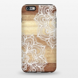 iPhone 6/6s plus  White doodles on blonde wood by Micklyn Le Feuvre ()