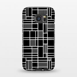 Galaxy S7  Map Outline Black 45 White by Project M