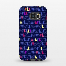 Galaxy S7  Midnight Triangles by Kimrhi Studios