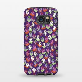 Galaxy S7 StrongFit Spring Buds Purple by Kimrhi Studios ()