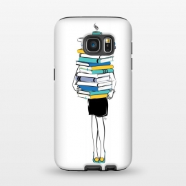 Galaxy S7  Book Worm by Martina
