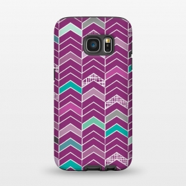 Galaxy S7  Chevron Purple by Rosie Simons ()