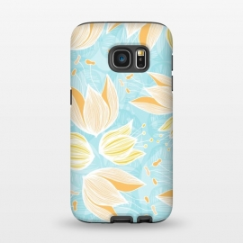 Galaxy S7 StrongFit Blumen Blue by Anchobee ()