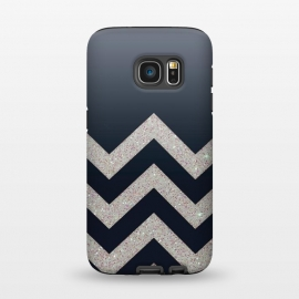 Galaxy S7  Chevron Block Silver Grey by Monika Strigel ()