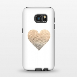 Galaxy S7  Gatsby Gold Heart by Monika Strigel ()