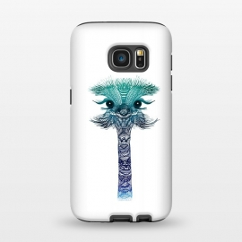 Galaxy S7  Ostrich Strigel Blue Mint by Monika Strigel ()