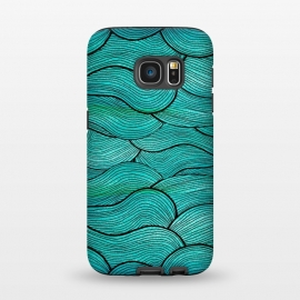 Galaxy S7  Sea Waves Pattern by Pom Graphic Design ()