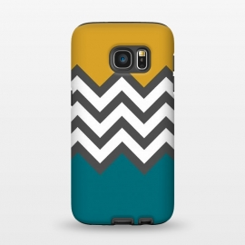 Galaxy S7  Color Blocked Chevron Mustard by Josie Steinfort  ()