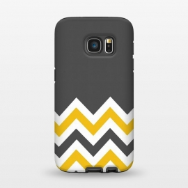 Galaxy S7  Color Blocked Chevron Mustard Gray by Josie Steinfort  ()
