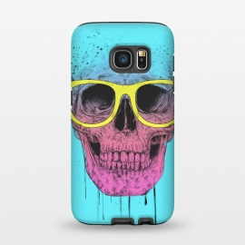 Galaxy S7 StrongFit Pop Art Skull With Glasses by Balazs Solti ()