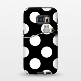 Galaxy S7  Out on a Limb Polka Dot Owl Moon by Micklyn Le Feuvre ()