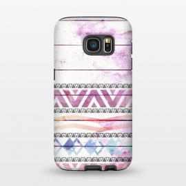 Galaxy S7  Aztec Wood Watercolor by Girly Trend