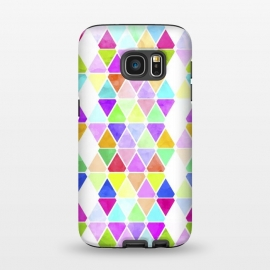 Galaxy S7  Watercolor Abstract Pastel Triangles by Girly Trend