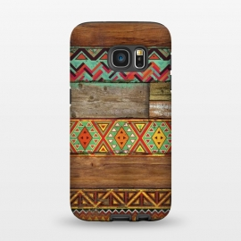 Galaxy S7  INDIAN WOOD by Diego Tirigall ()