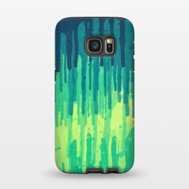 Galaxy S7  Green Grunge Color Splatter Graffiti Backstreet Wall by Philipp Rietz