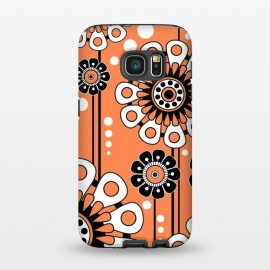 Galaxy S7  Orange Flowers by Shelly Bremmer