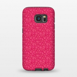 Galaxy S7  Pink Indian Floral by Zoe Charlotte