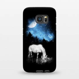Galaxy S7  Mooonlight Unicorn by Mitxel Gonzalez