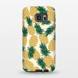 Galaxy S7 EDGE  Pineapples by Laura Grant