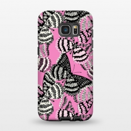 Galaxy S7 EDGE  Tribal butterfly by Laura Grant