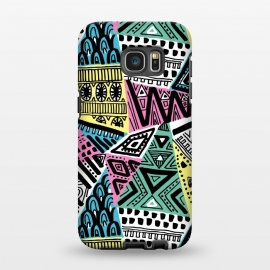 Galaxy S7 EDGE  Tribal triangles by Laura Grant