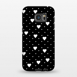 Galaxy S7 EDGE  Pin Point Hearts White by Project M