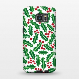 Galaxy S7 EDGE  Jolly Holly Red and Green by Kimrhi Studios
