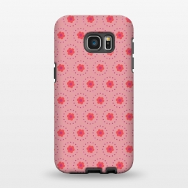 Galaxy S7 EDGE  Pink Circular Floral by Rosie Simons ()