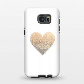 Galaxy S7 EDGE  Gatsby Gold Heart by Monika Strigel ()