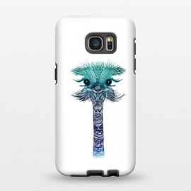 Galaxy S7 EDGE  Ostrich Strigel Blue Mint by Monika Strigel ()