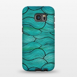 Galaxy S7 EDGE  Sea Waves Pattern by Pom Graphic Design ()