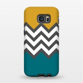 Galaxy S7 EDGE  Color Blocked Chevron Mustard by Josie Steinfort  ()