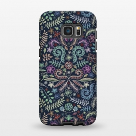 Galaxy S7 EDGE  Colored Chalk Floral Doodle Pattern by Micklyn Le Feuvre ()