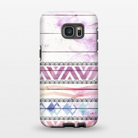 Galaxy S7 EDGE  Aztec Wood Watercolor by Girly Trend