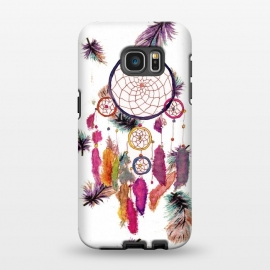 Galaxy S7 EDGE  Dreamcatcher and Feather Pattern by Girly Trend