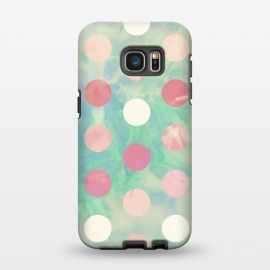 Galaxy S7 EDGE  Polka Dots Watercolor Front by Girly Trend ()