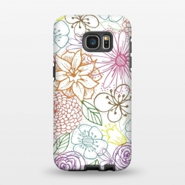 Galaxy S7 EDGE  Bright Floral by TracyLucy Designs