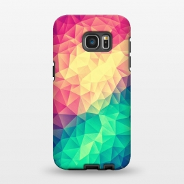 Galaxy S7 EDGE  MultiColor Cubizm Painting by Philipp Rietz