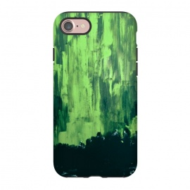 iPhone 8/7  Lime Green Northern Lights by ANoelleJay ()